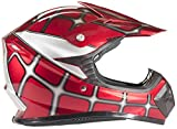 Typhoon Kids Youth Offroad Helmet DOT Motocross ATV Dirt Bike MX Motorcycle Spiderman Red, X-Large