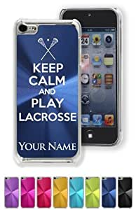 MMZ DIY PHONE CASECase/Cover for ipod touch 5 - KEEP CALM AND PLAY LACROSSE - Personalized for FREE (Click the CONTACT SELLER link after purchase and send a message with your case color and engraving request)