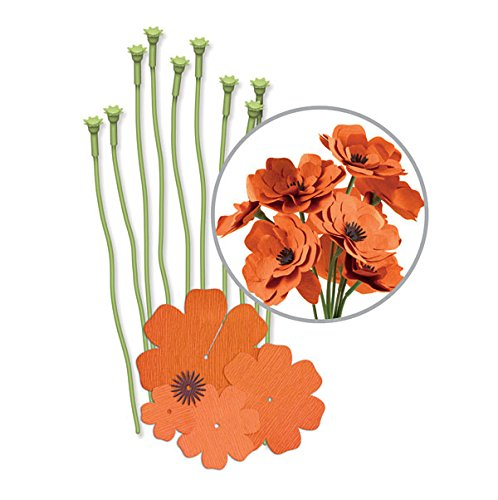 Memory Keepers Paper Kits - We R Memory Keepers Crepe Paper Flowers Orange