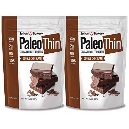 Paleo Thin® Protein Double Chocolate Powder (4lbs) (2 Carbs) (60 Servings) (Grass Fed Beef)