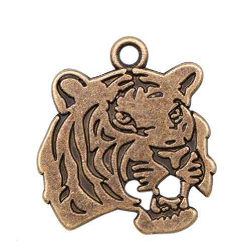- JETEHO 20pcs Tiger Charms Pendant Animal Charms Spacer Beads for DIY Jewelry Bracelet and Necklace Making