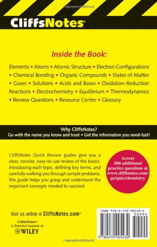 CliffsNotes Chemistry Quick Review, 2nd Edition - Import It All