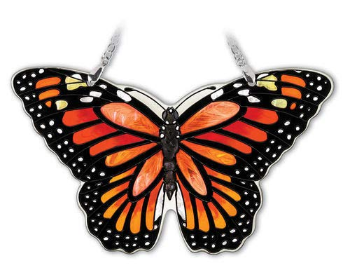 Stained Glass Suncatcher Monarch Butterfly 5.5