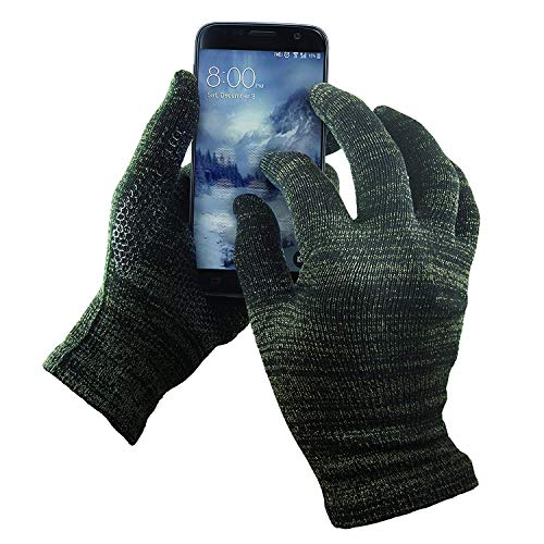 (GliderGloves W15-9540M-BLCK-L Mens Texting Gloves. Warm Smartphone Gloves with Anti-Slip Grip, Insulated Layers & Full Hand Conductivity. Winter Style Black Touch Screen Gloves Women, Touchscreen Gloves Men)