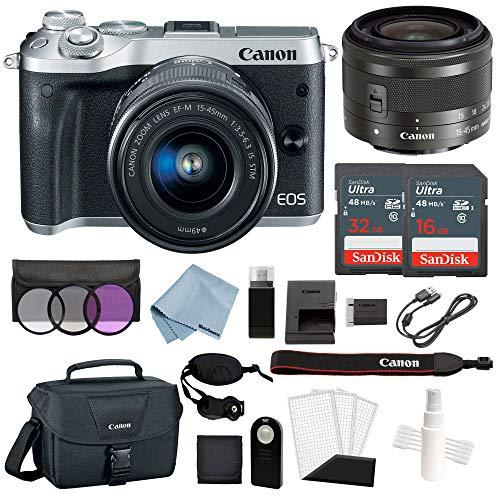 Canon EOS M6 Digital Camera  with EF-M 15–45mm f/3.5–6.3