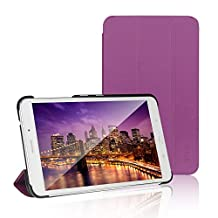 Tab 4 7 Case, JETech® Gold Slim-Fit Smart Case Cover for Samsung Galaxy Tab 4 7 (7.0 inch) Tablet (Purple)
