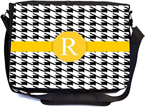 Rikki Knight Buchstabe R Gelb Hahnentritt Monogramm Design, Messenger Schule Tasche (mbcp-cond46367)