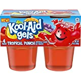jello snack packs - Jell-o Kool-Aid Gels Tropical Punch, 3.5 oz, 4 Count (Pack of 6)