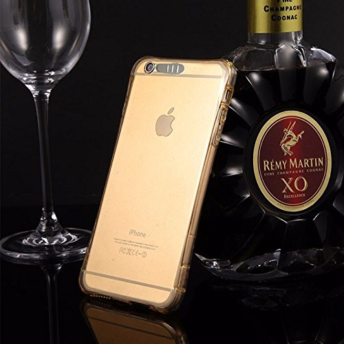 König-Shop Handy Hülle LED Licht bei Anruf für Handy Apple iPhone 6 / 6s Gold - Bumper Case Cover