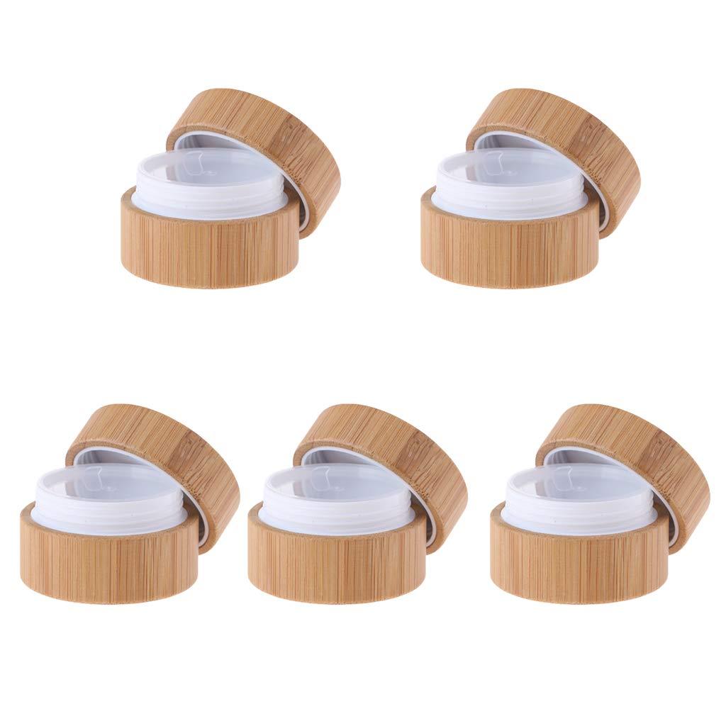 Recipiente Cremas Cosméticas de Bambú