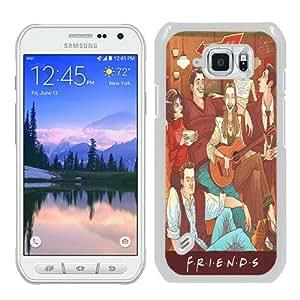 Recommended Design Samsung Galaxy S6 Active Case,Series Friends Pub Cute Retro Art White Samsung Galaxy S6 Active Customized Case