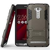"Asus Zenfone 2 Laser 6.0"" Case, CoverON® [Shadow Armor Series] Hard Slim Hybrid Kickstand Phone Cover Case for Asus Zenfone 2 Laser 6.0"" ZE601KL - Gray & Black"