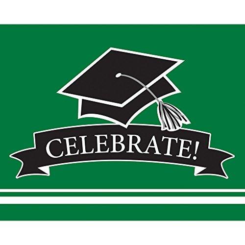 [Creative Converting 25 Count Graduation Party Invitations, Emerald Green] (Green Holiday Invitation)