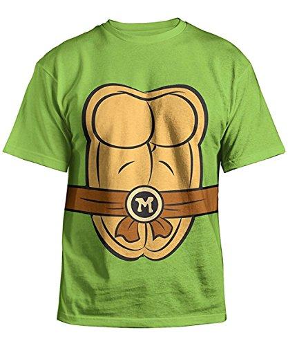 Teenage Mutant Ninja Turtles Mikes Costume Green Kid's Youth T-Shirt (M, (Tmnt Birthday Shirt)
