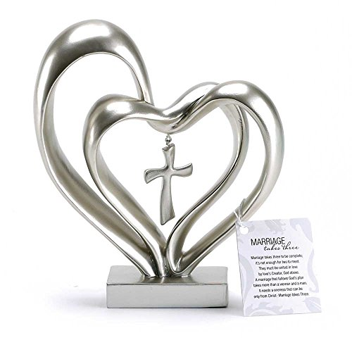 Marriage Silver Finish Middle Tabletopper