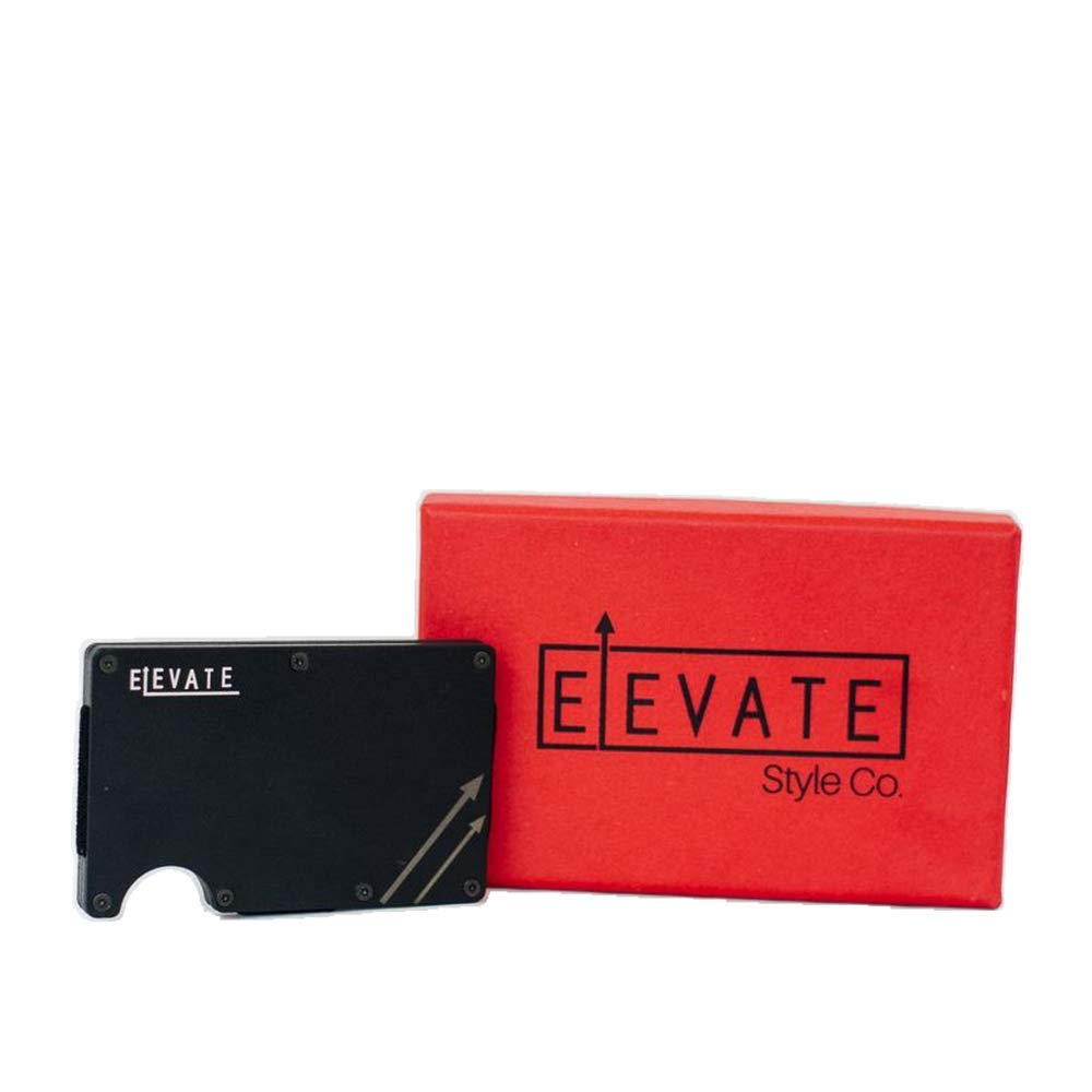Elevate Minimalist Aluminum Slim Wallet with RFID Blocking & Money Clip