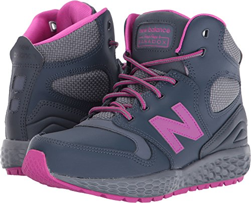 New Balance Kids Girl's KLPXB (Little Kid) Grey Athletic Shoe (New Balance Tennis Shoes For Kids)