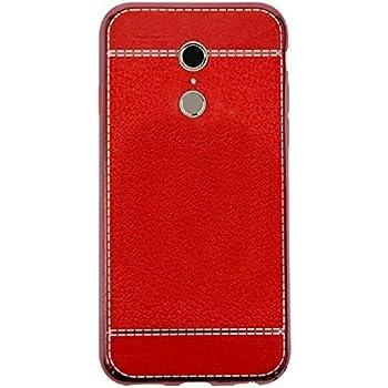 Blu Vivo 8 Case, ZLDECO Elegant Shockproof TPU (PU Leather Pattern) Back Bumper Cover Protective for Blu Vivo 8 - 5.5 Smartphone (2017) (Red)