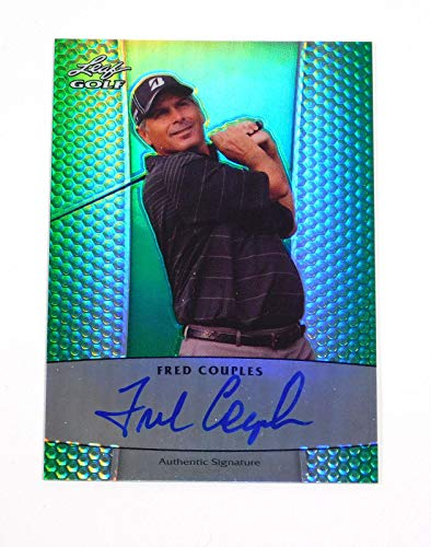 2011 Leaf Metal Fred Couples Prismatic Green Golf On Card Auto /25 - Golf Cards