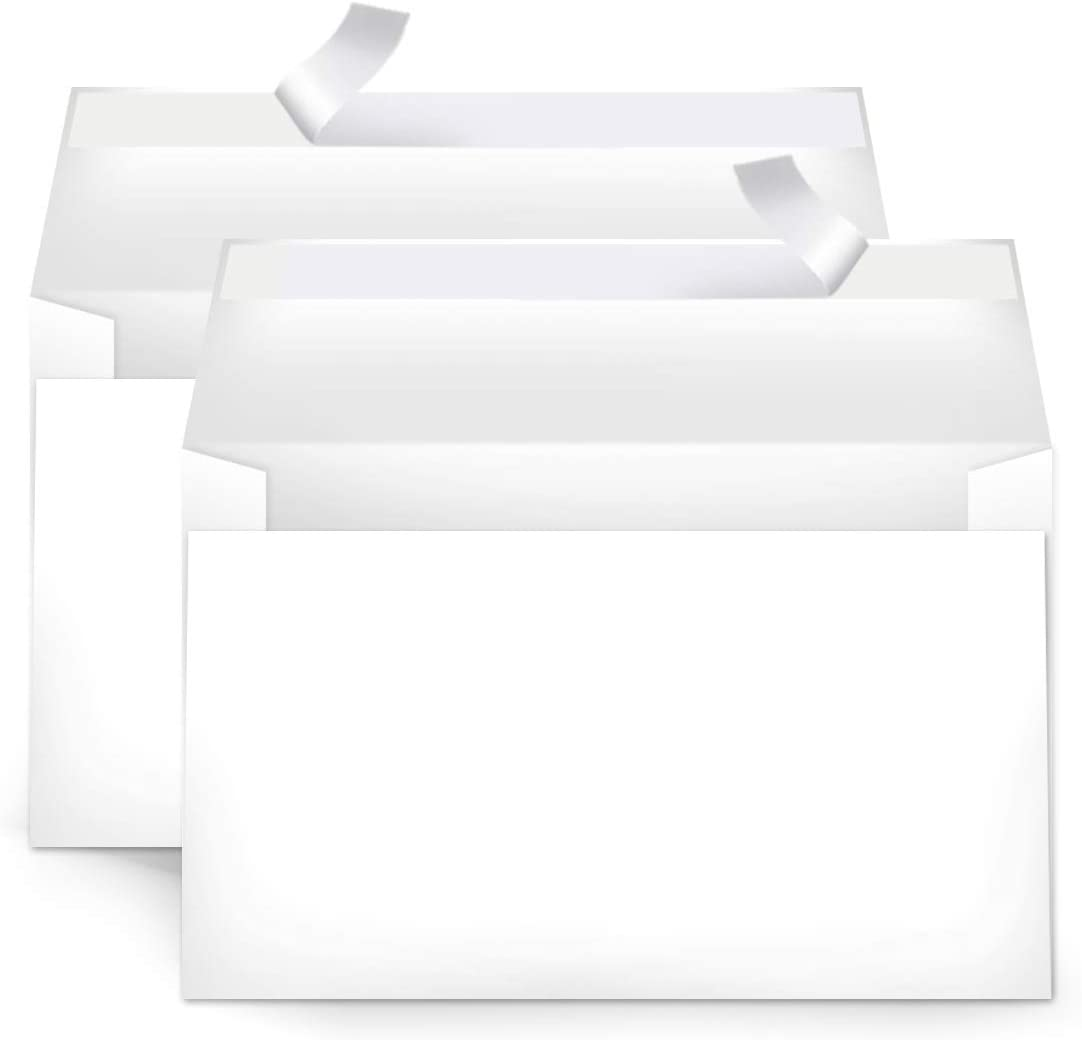 Basics A9 Blank Invitation Envelopes with Peel & Seal, White, 100-Pack (5-3/4 x 8-3/4 inches) - AMZA22 : Office Products