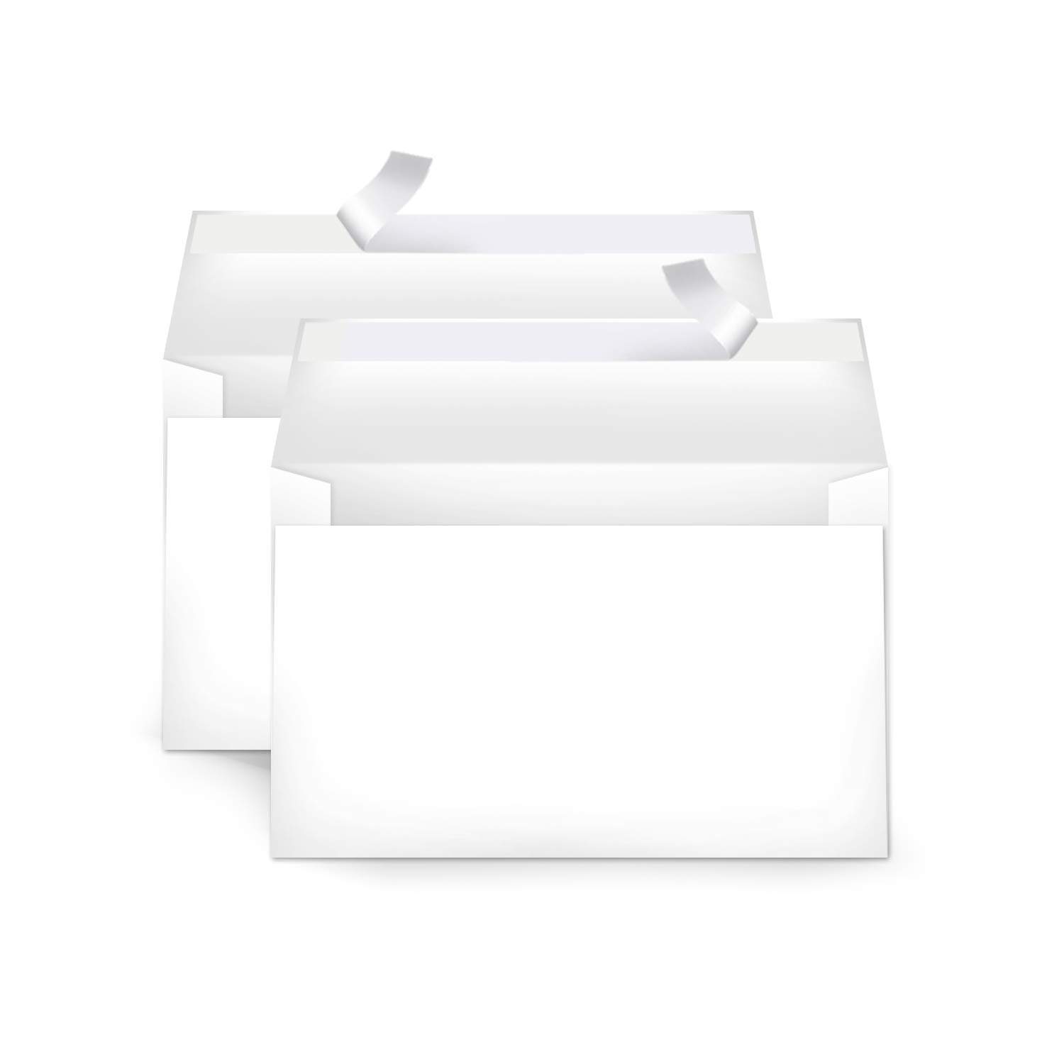 Amazon Basics A9 Blank Invitation Envelopes with Peel & Seal, 5-3/4 x 8-3/4 Inches, White, 100 Count