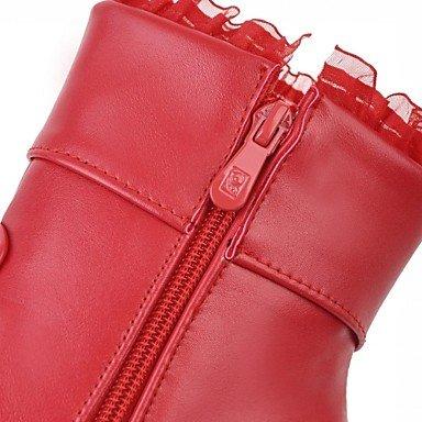 Botas Tobillo Heart el Confort Robusto black Otoño Botas Moda Zapatos Mujer Con Hasta redondo de Invierno Tacón amp;M Innovador Dedo Semicuero Botines HPqrH4wx