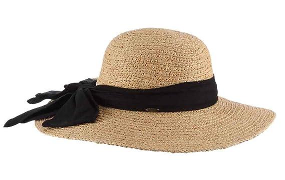 39feccd1 SCALA Women's Big Brim Raffia Hat, Natural, One Size at Amazon ...