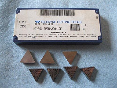 (7 PCS SD 3 TPG 433 HT P01 TPGN 220 412F TELEDYNE CARBIDE INSERTS MILLING TOOLS)