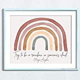Maya Angelou Quote 'Be a Rainbow' Watercolor