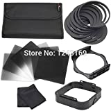 Unpre(TM)Complete ND2 ND4 ND8 G.ND6 G.ND2 G.ND8 Filter Kit 9pcs Ring Adapter + 1 Filter Holder +1pcs Lens Hood + for Cokin P LF143