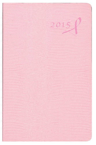 Pink Ribbon Daily Planner - Brownline 8 X 5 Inches 2015 Daily Planner with Twin-Wire, Pink With Pink Ribbon (CB634W.PNK-15)