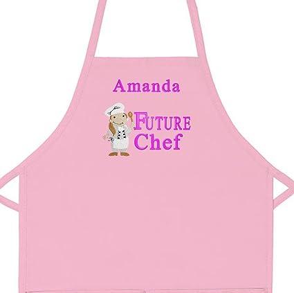 Amazon Com Personalized Child Apron Embroidered Future Chef Girl