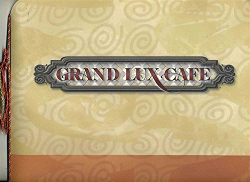 Grand Lux Cafe Menu Venetian Resort Hotel & Casino Las Vegas Nevada 1999