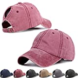 Vintage Sports Ponytail Baseball Hats for Women