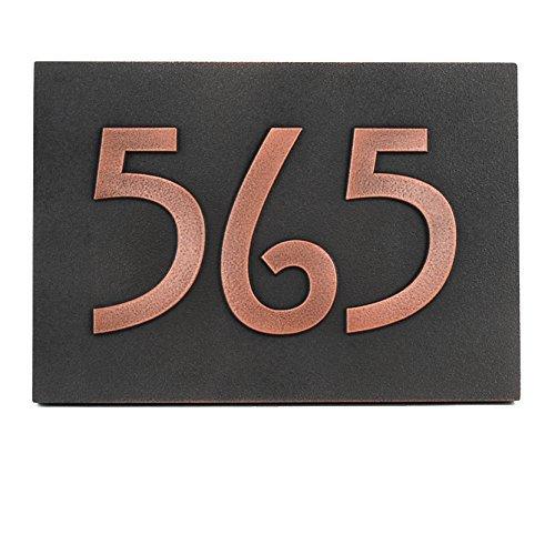 - Modern Stickley Address Plaque No Border 12.5x8.75 - Raised Copper Coated