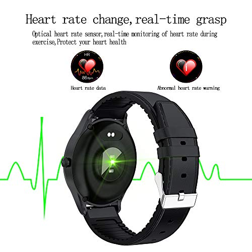 Smart Watch with Heart Rate Monitor and Sleep Monitor, NUODO IP67 Waterproof Fitness Tracker Watch for Yoga, Exercise Bike, Treadmill Running, Compatible with iPhone and Android Phones for Women/Men