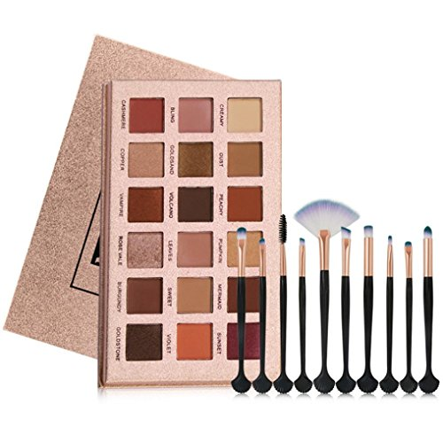 Eyeshadow Palette and Makeup Brushes Sets for Girls Womens T