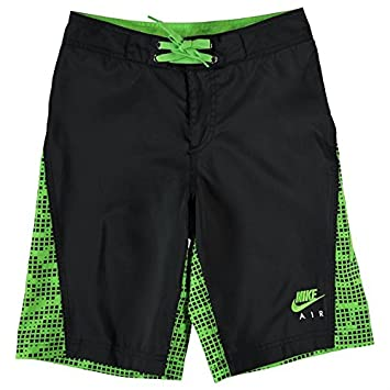 b934a32745 Nike All Over Print Board Shorts Junior Boys (Black/Green, 13 (XLB ...