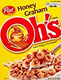 Post Honey Graham Oh's Cereal 10.5 Ounce