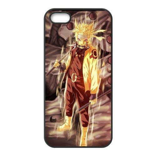 Naruto 004 coque iPhone 4 4S Housse téléphone Noir de couverture de cas coque EOKXLKNBC22029
