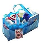Travel Outdoor Portable Baby Diaper Nappy Storage Insert Organizer Bag Tote,Blu