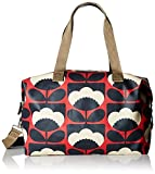 Orla Kiely Women's Spring Bloom Zip Holdall, Poppy