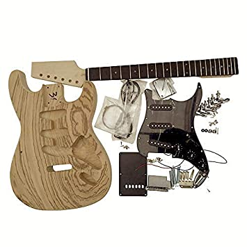 Gdst4405 Zz Coban Guitars Guitarra Eléctrica Hazlo Tú Mismo Kit con Doble Cara Zebrawood Chapa para