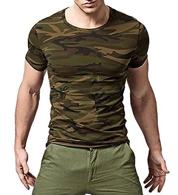 XUDIAN Short Sleeves Men's T-Shirt Crew-Neck