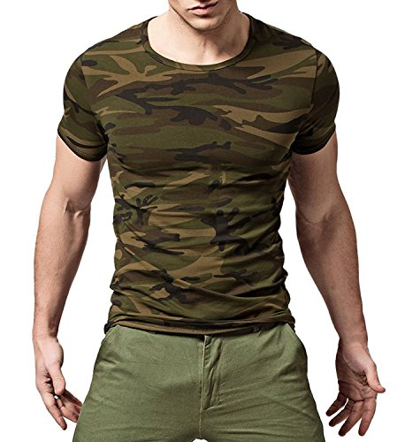 (XUDIAN Short Sleeves Men's T-Shirt Crew-Neck (US Small,)