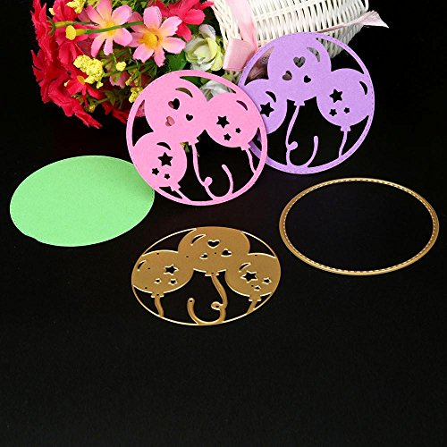 - Hot New 250 Type Star Flower Happy Birthday Metal Cutting Dies Stencil Scrapbook Paper Card Craft Embossing DIY Scrapbooking (Gold C)