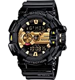 G-Shock Men's GBA400 G'Mix Rotary Switch BLE Watch, Black/Gold, One Size