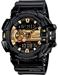 G-Shock Mens GBA400 GMix Rotary Switch BLE Watch, Black/Gold, One Size