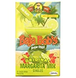 Baja Bob's Margarita Cocktail Mix - Singles, Sugar Free & Low Carb, 10 packets per box.