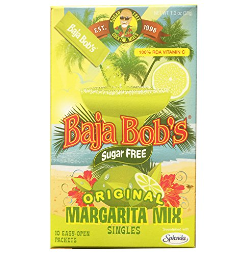 Cocktail Drink Mixes (Baja Bob's Original Margarita Mix - 10 Single-Serve Packets Makes 10 Individual Margaritas. Authentic Made-from-Scratch Taste. Just Pour Packet Into Water, Add Tequila. Pour Over Ice. Enjoy!)